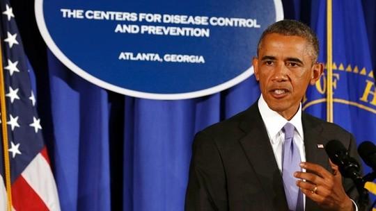 Tổng thống Obama phát biểu tại CDC hôm 16-9. Ảnh: Horseed Media