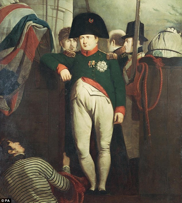 Dictator: Napoleon, who was famed for wearing his bicornes sideways, owned around 120 hats during his reign from 1804 to 1815. The auctioned hat  was recovered by Napoleons personal vet,Joseph Giraud