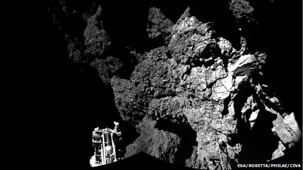 comet 67P seen from the Philae lander