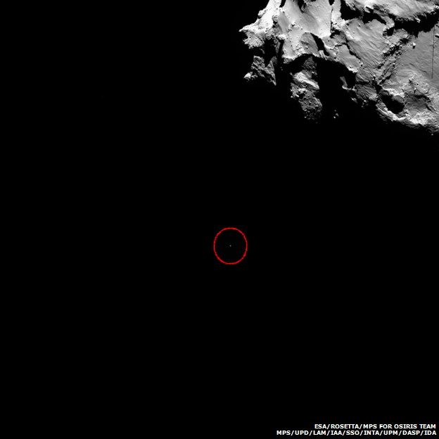 Philae heading for the comet