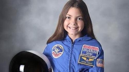 Alyssa Carson muốn trở thành người đầu tiên đặt chân trên sao Hỏa. Ảnh:.Twitter