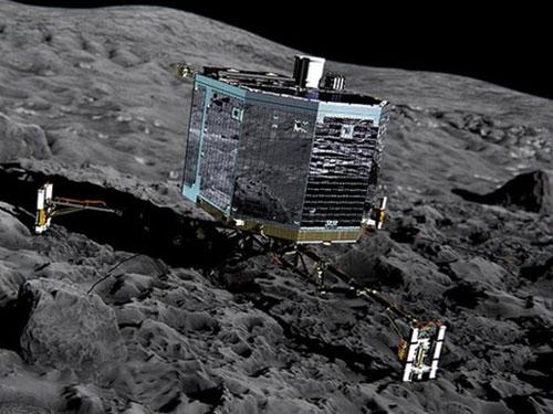 Robot Philae đáp xuống bề mặt sao chổi thành công Ảnh: BBC