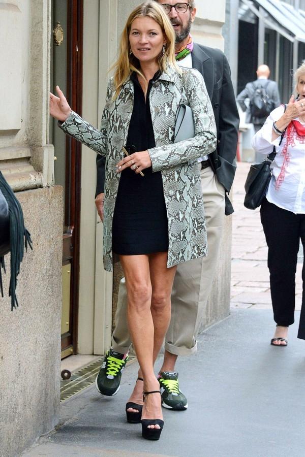 Kate Moss Wearing Snakeskin