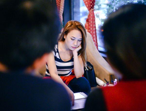 Trước đó, Mỹ Tâm và ê kíp đã có mặt tại Hà Nội để chuẩn bị cho liveshow ngày 23/11
