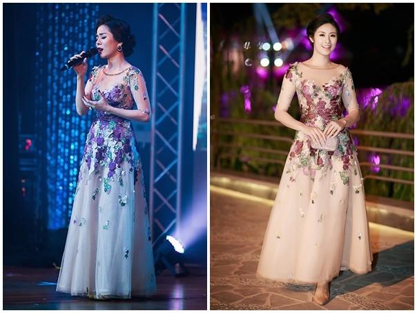 Hoa hậu Kỳ Duyên đụng váy dạ hội gợi cảm với Giáng My