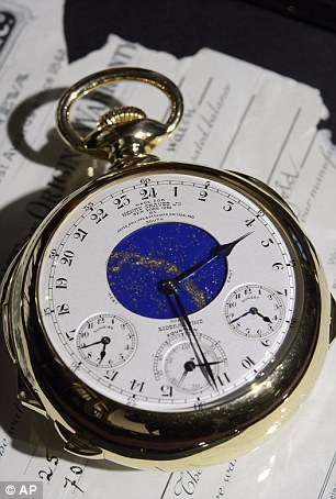 In total, the timepiece - with two clock faces, one on each side - has 24 complications. One shows the phases of the Moon, others the times of sunset and sunrise in New York and even the pattern of the stars each night above Mr Graves's apartment in the city