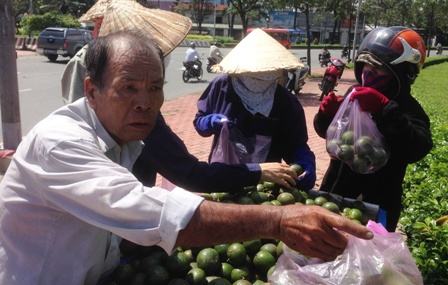 Không ít người cũng mua cam hỗ trợ ông Thanh.