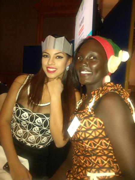 Giây phút thân thiết giữa hoa hậu Curacao và Chad