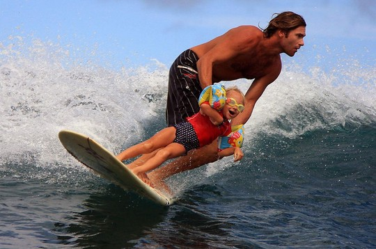 Teaching Your Daughter How To Surf
