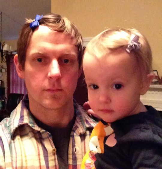 My Daughter Likes Me To Wear Hair-Bows With Her