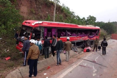 Hiện trường vụ tai nạn ở Quảng Ninh. Ảnh: Auto Fun