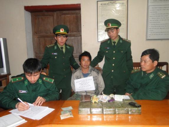 Đối tượng và tang vật bị bắt giữ