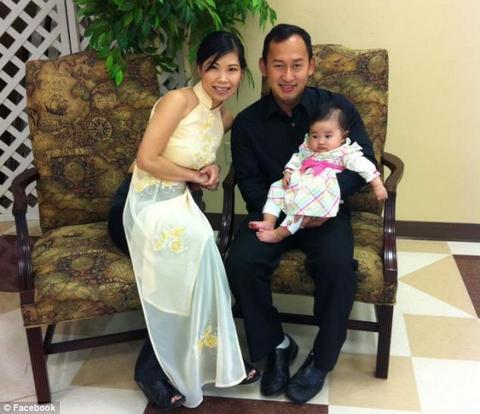 Vợchồng Katie Luong đã từng rất hạnh phúc khi sinh được bé Ella
