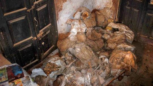 Các bộ phận thi thể được tìm thấy hôm 30-1. Ảnh: PTI