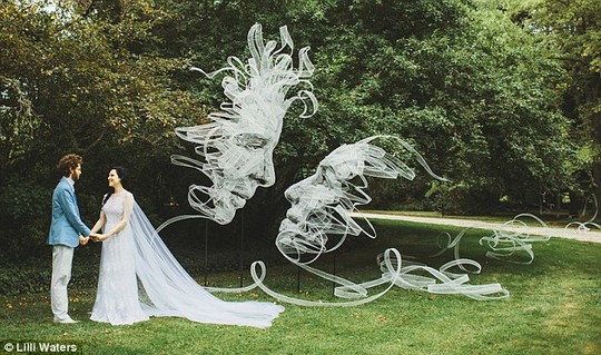 Benjamin Shine and Danielle Stone exchanged their vows on Valentines Day the Southern Highlands of NSW