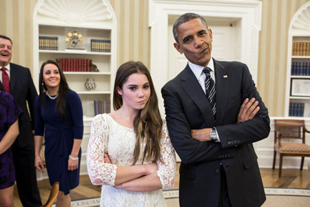 Hình ảnh Những khoảnh khắc hài hước của Tổng thống Obama số 1