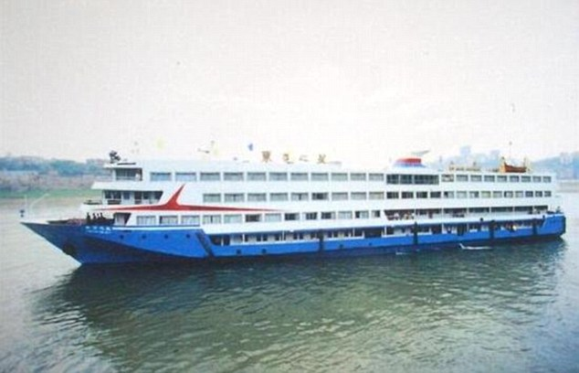 The ship which sank (pictured) was called the Eastern Star and owned by Chongqing Eastern Shipping Corp