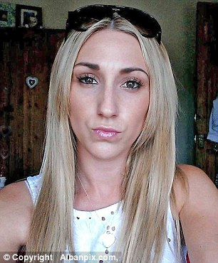 Riley had also paid a heroin addict to slash Miss Bellis, pictured, with a craft knife across her mouth