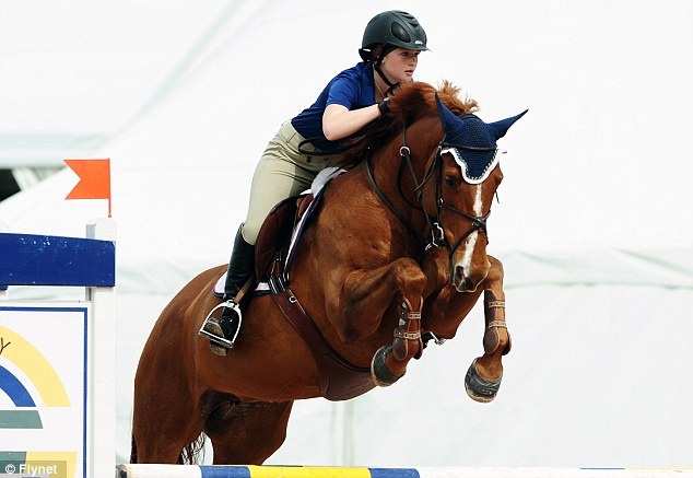 Rising star: Jennifer competed in junior divisions but her father Bill has already spent approximately $75,000 on each of her horses