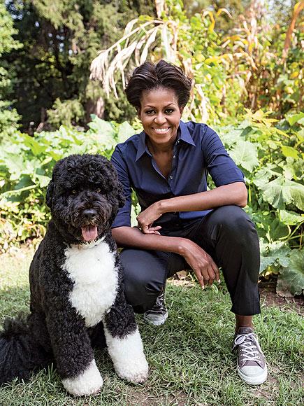 DOWN TO EARTH photo | Bo Obama, Michelle Obama