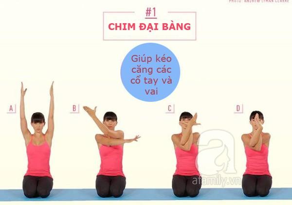 động tác kéo căng cơ thể 1