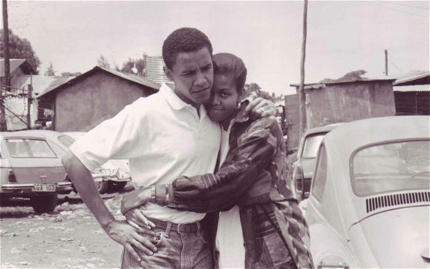 A photograph of President Obama and Michelle Obama as a young couple was posted to Facebook this morning.