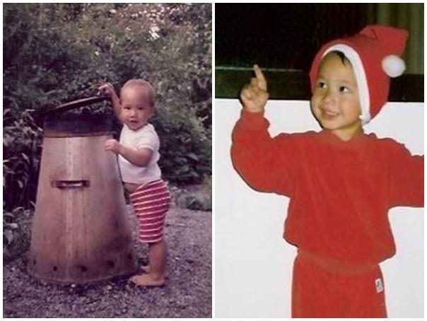 Ảnh ngô nghê của Kim Lý thời thơ ấu