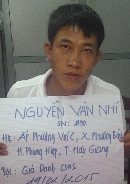Đối tượng Nguyễn Văn Nhí tại cơ quan điều tra