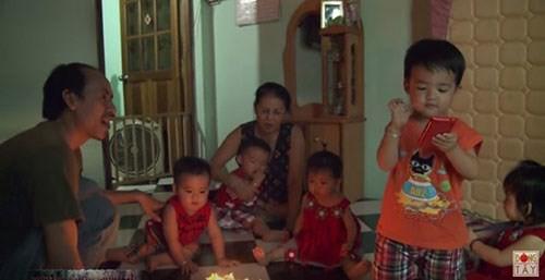 Niềm hạnh phúc được nhân 5 trong ngày sinh nhật của 5 đứa con của gia đình anh chị Thư