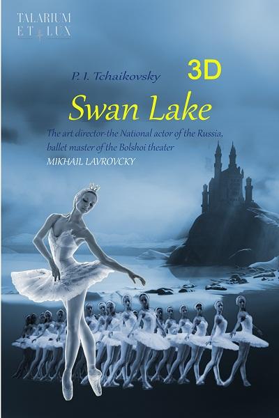 """Poster giới thiệu vởballet """"Hồ thiên nga"""" với công nghệ 3D"""