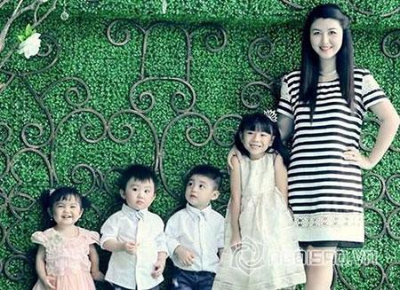 Chị gái Hoa hậu Đặng Thu Thảo hạnh phúc bên các nhóc tì xinh xắn, đáng yêu