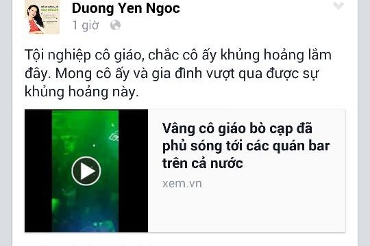 Status đang gây bão của Dương Yến Ngọc