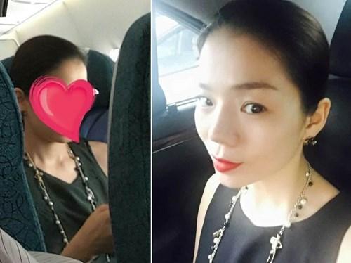 Hình ảnh nữ hành khách cho con tè vào túi nôn trên máy bay được dân mạng tung bằng chứng chứng minh là Lệ Quyên.