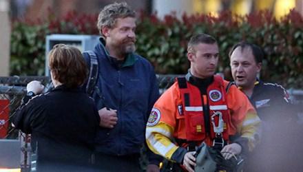 Louis Jordan (thứ hai bên trái), được tìm thấy sau khi mất tích 66 ngày. Ảnh: AP.
