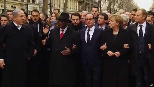 Biển người tuần hành phản đối khủng bố tại Pháp