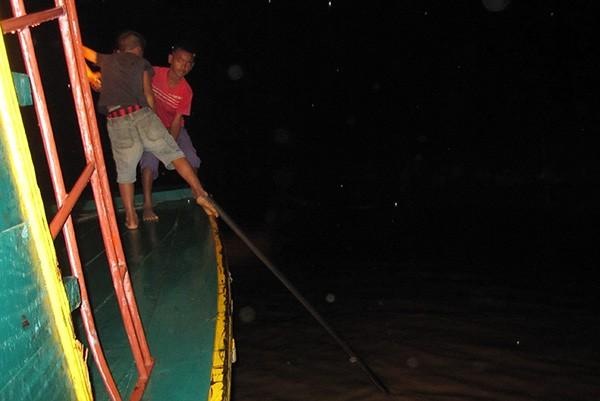 Nhóm ngư phủ từng nhiều lần giáp mặt với cá huyết rồng.