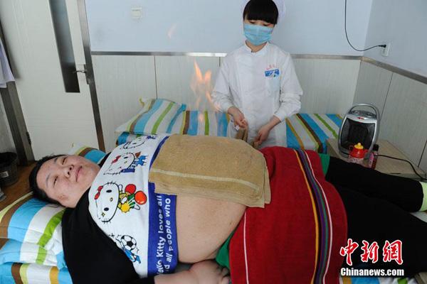 Liu đang thực hiện liệu pháp giảm cân tại bệnh viện.