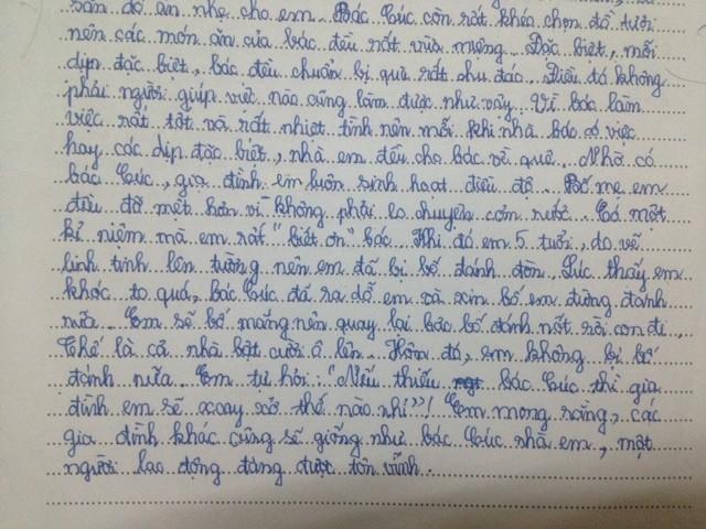 Bài văn của Minh Phương.