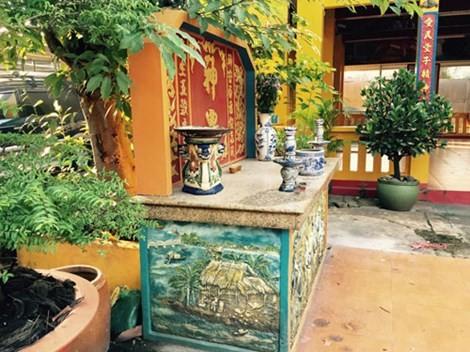 Trong ngôi đình cổ Tân Lân (P.Hòa Bình, TP.Biên Hòa) vẫn còn lưu giữ 1 bức tranh sơn dầu vẽ toàn cảnh Cồn Gáo.