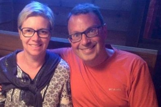 Couple: David Steiner, 42, and his wife, Ornella Steiner, 5, died during an afternoon hike across the searing New Mexico desert