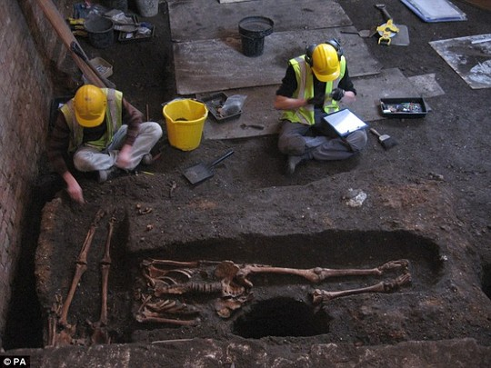 History uncovered: Experts say its one of the largest medieval hospital cemeteries ever discovered in Britain