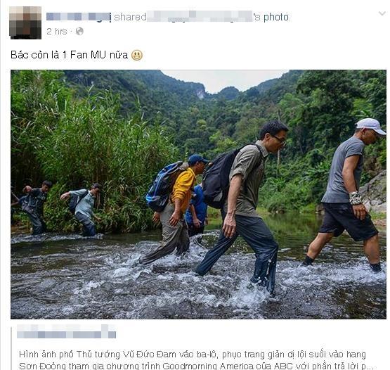 Bức ảnh Phó thủ tướng Vũ Đức Đam lội suối đến hang Sơn Đoòng gây sốt mạng_5