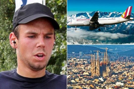 Andreas Lubitz, cơ phó trên chuyến bay 9525 thuộc hãng hàng không Germanwings (trái)Ảnh: MIRROR