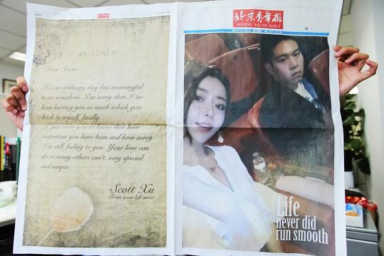 Trang 4 là lá thư kiểu bưu thiếp (trái). Ảnh: SCMP