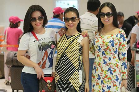 3 chị em Cẩm Ly, Hà Phương và Minh Tuyết trong chuyến du lịch cách đây vài ngày.