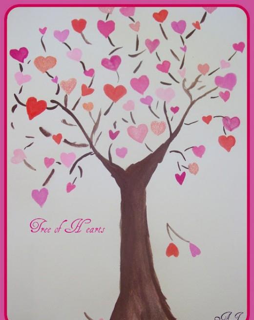 Cây tình yêu làm nổi bật không gian sống trong ngày Valentine