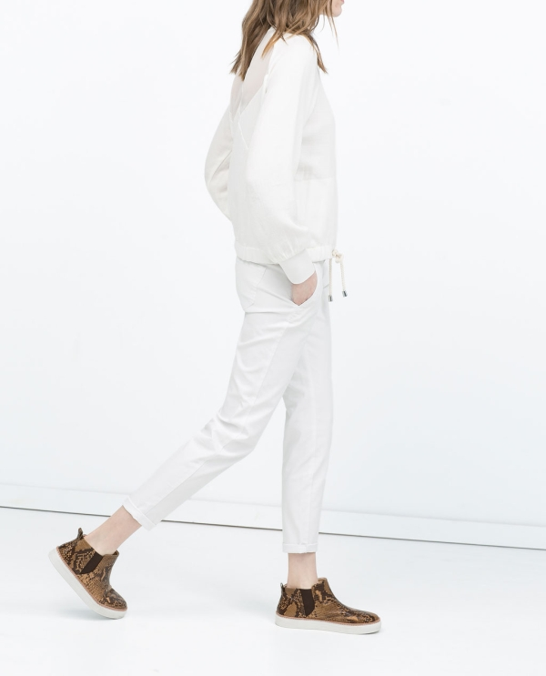 Image 4 of COATED TROUSERS from Zara