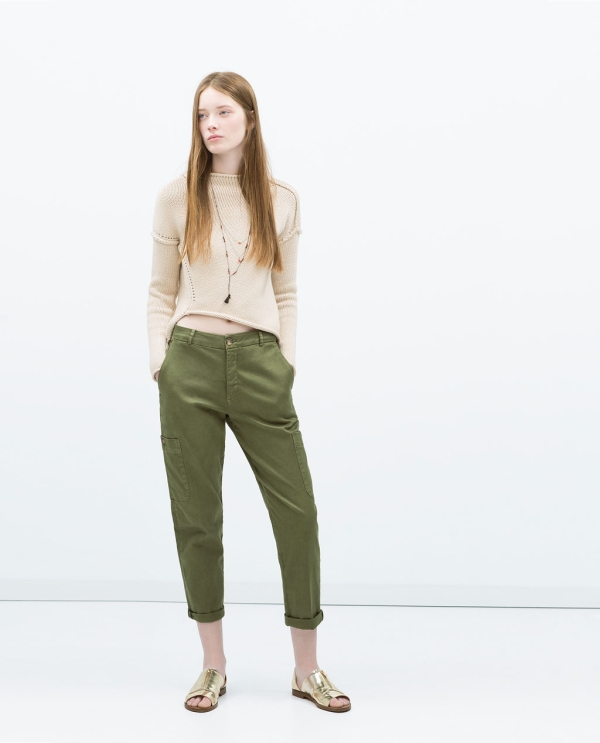Image 1 of ARMY TROUSERS from Zara