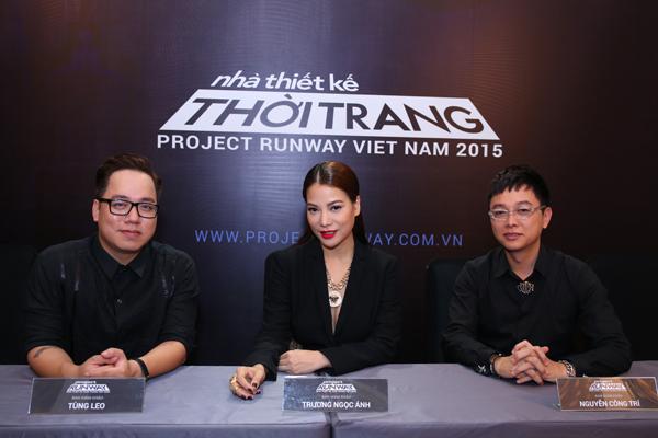 Ba gương mặt quen thuộc của cuộc thi tìm kiếm nhà thiết kế trẻ tài năng uy tín tại Việt Nam là Tùng Leo, Trương Ngọc Ánh và nhà thiết kế Công Trí.