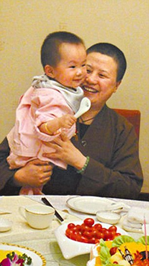Leaked: The whistle-blower also shared pictures of a Shaolin nun and her baby, who Shi Yongxin is alleged to have fathered.